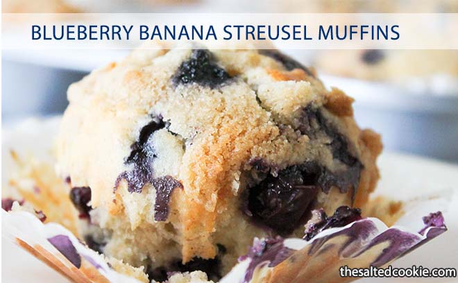 Blueberry Banana Streusel Muffin