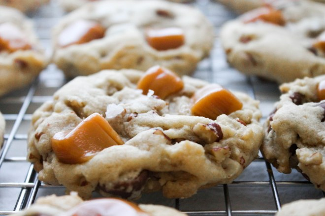 Salted Caramel Pecan Chip Cookies from The Salted Cookie